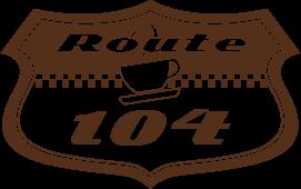 the 104 diner logo