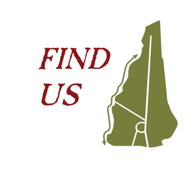 find us graphic text with new hampshire state outline