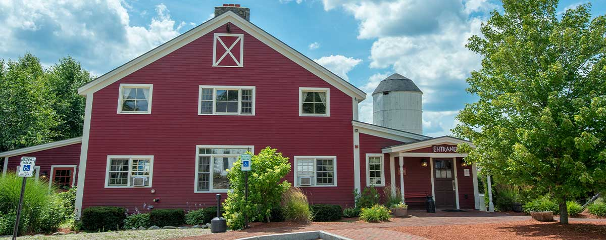 common man windham exterior red barn with silo in background