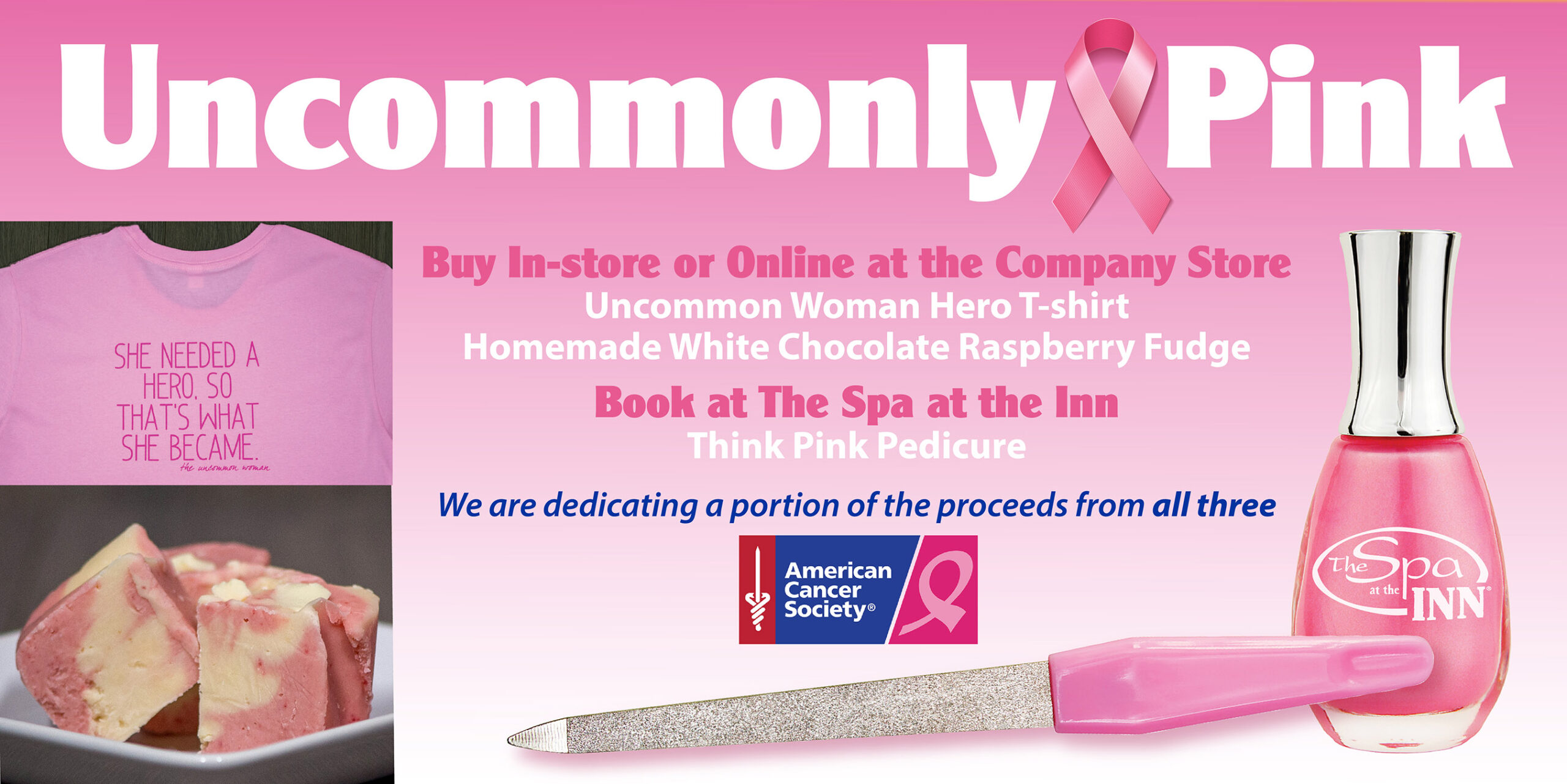 Go Uncommonly Pink for Breast Cancer Awareness Month