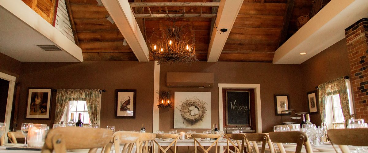 "ashland event room the nest ""u"" shape table set up"