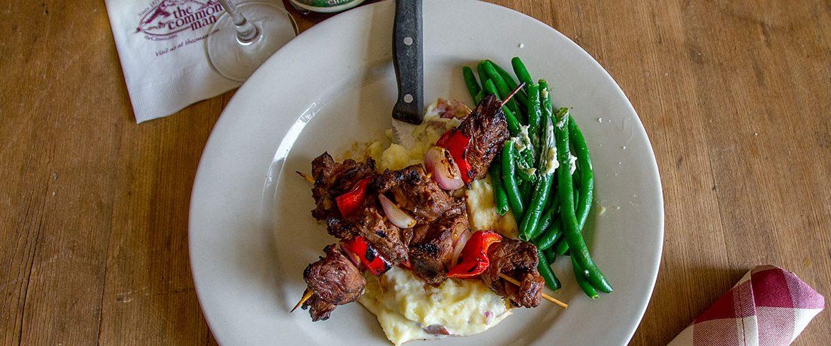 The Common Man - Entrees - Steak Tip K-Bobs