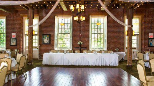 cman claremont ballroom dais and dance floor set up