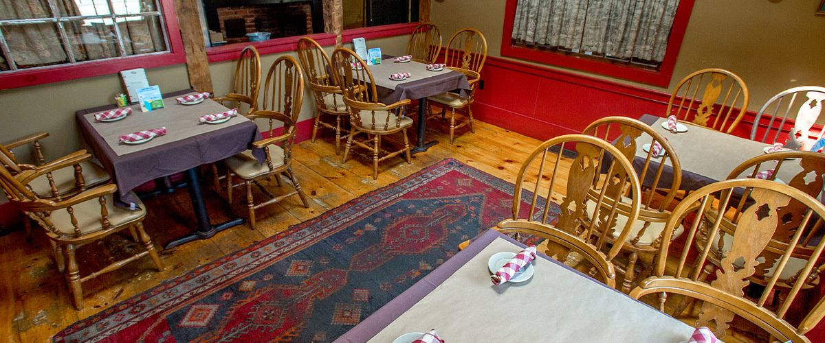 common man merrimack dining tables set up